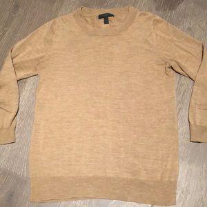 J. Crew camel light-weight sweater size medium